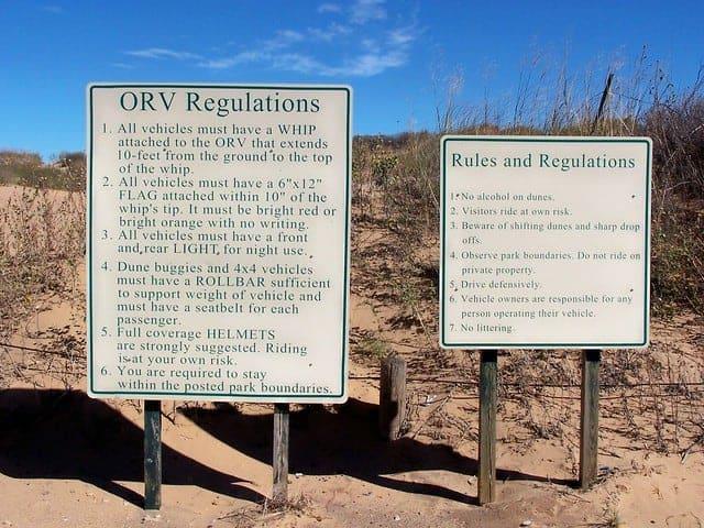 Beaver Dunes ORV Rules