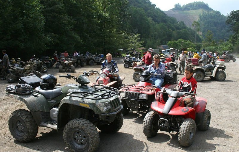 ATVs on the Hatfield McCoy Trails