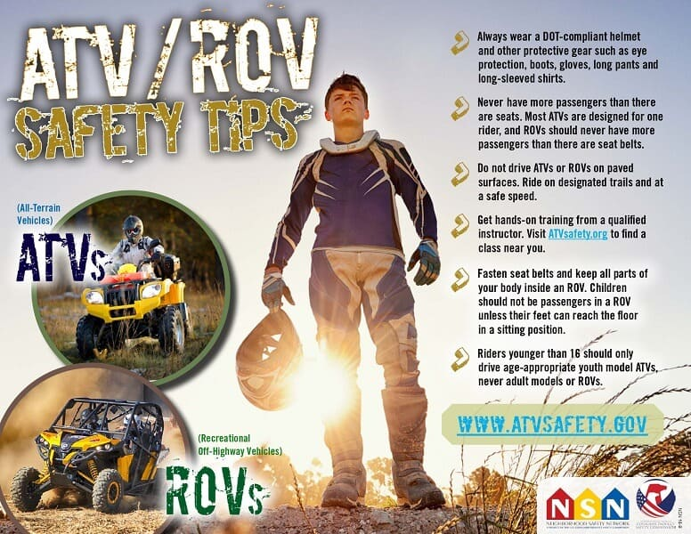 ATV Safety Tips Graphic