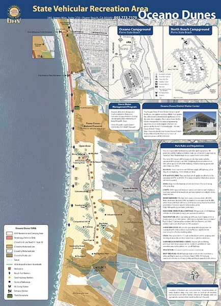 Oceano Dunes Map
