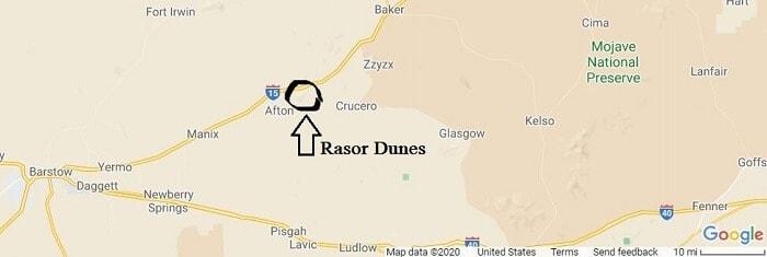 Rasor Dunes OHV Area  Map