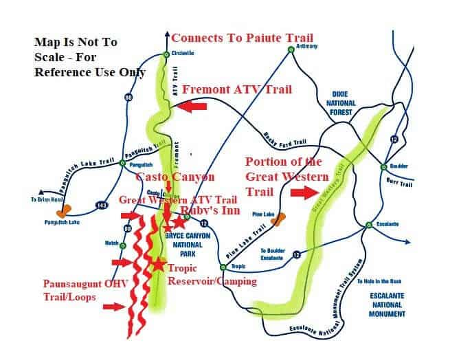 ATV Bryce Canyon Trail Map