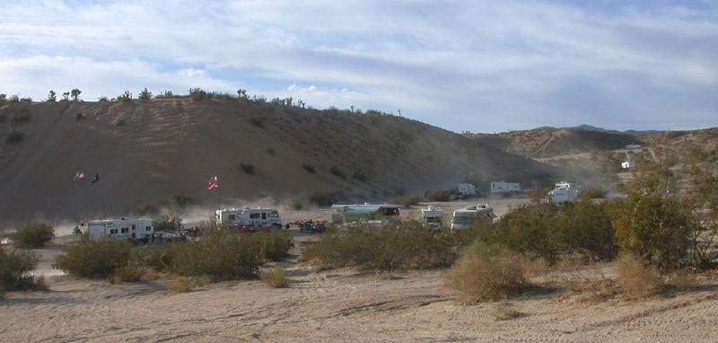 Camping and off roading at Jawbone CA