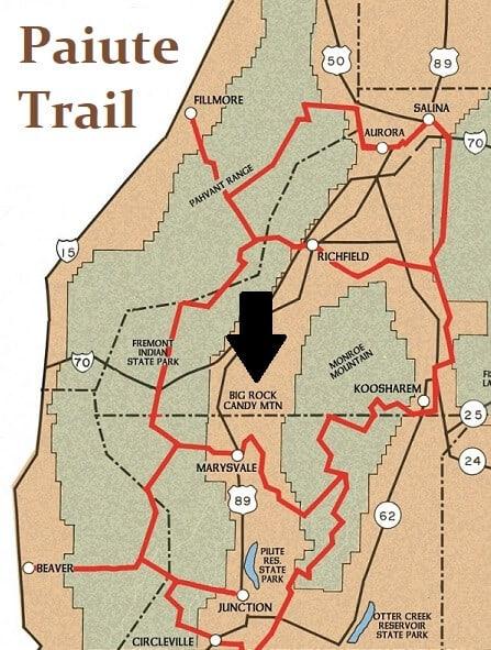 Paiute Trail Map