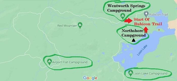 Rubicon Trailhead campgrounds