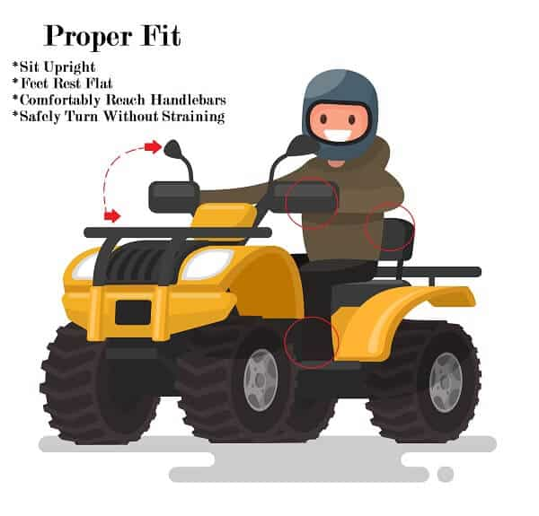 What size ATV for a child operator?