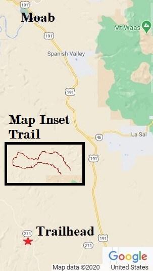 Beef Basin Moab Utah ATV trail map