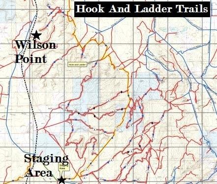 Cameo Cliffs Moab Utah ATV trails map