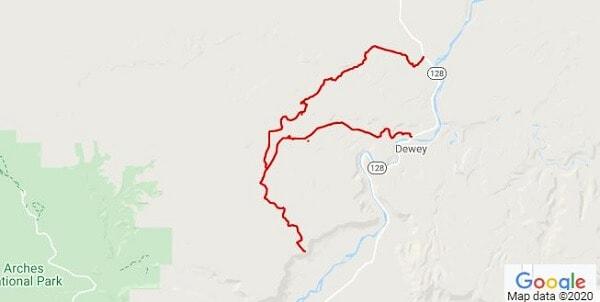 Dome Plateau Moab Utah ATV trail map