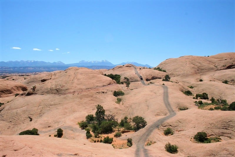 Moab offroad trail