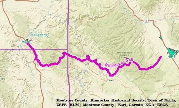 Rim Rocker Trail Map