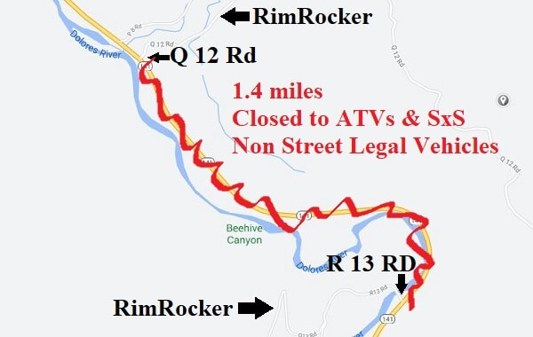 Rim Rocker Colorado and Utah off road trail map