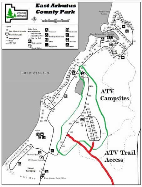 East Arbus Campground map