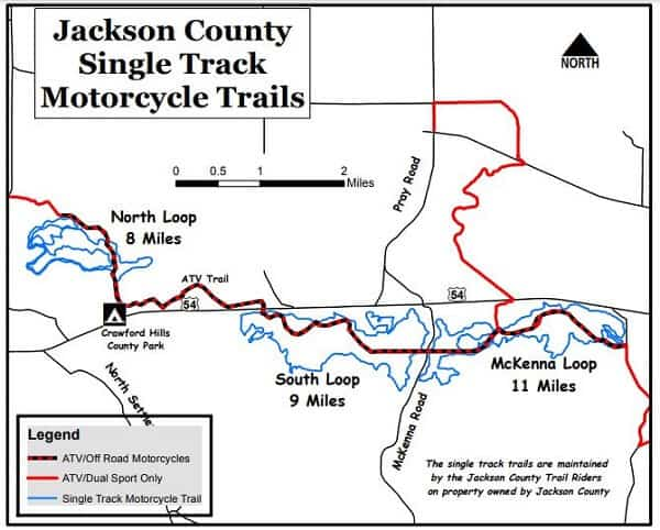 Jackson County WI single track for motorcycles