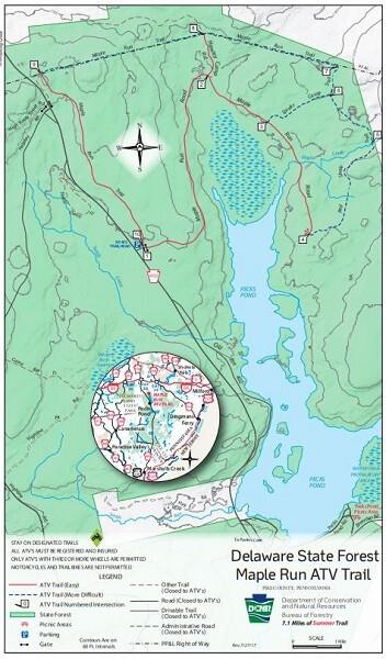 Maple Run Pennsylvania ATV Trail Map