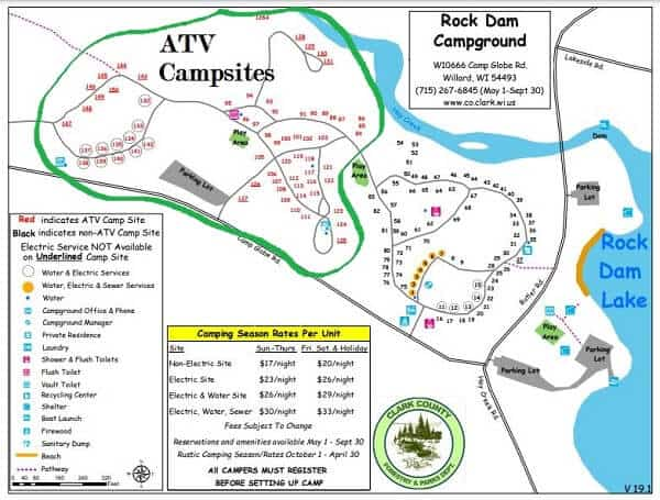 Rock Dam Campground map