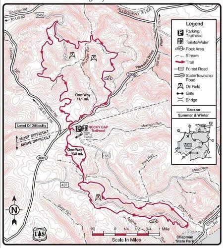 Rocky Gap Pennsylvania ATV Trail Map