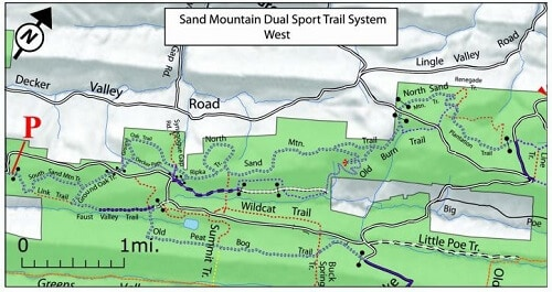 Seven Mountains / Sand Mountain Dual Sport Trail System Map