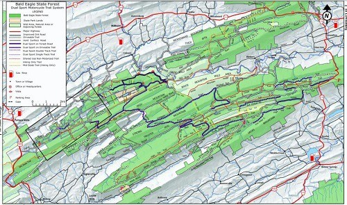 Seven Mountain / Sand Mountain Dual Sport Trail System Map