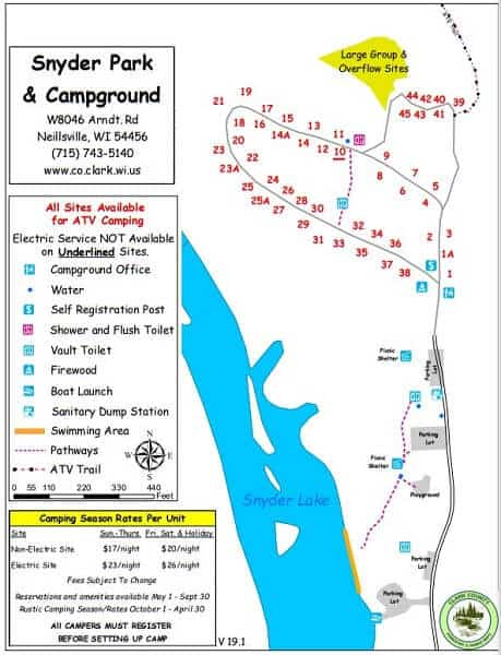 Snyder Park and Campground map