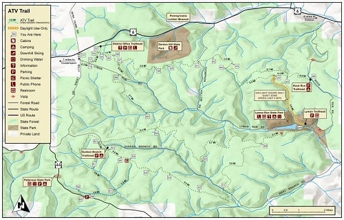 Susquehannock PA ATV Trail Map