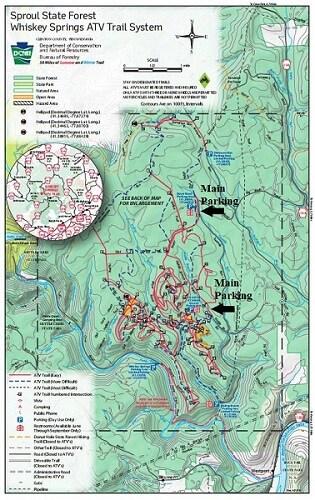 Whiskey Springs Pennsylvania ATV Trail Map