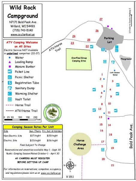 Wild Rock Campground map