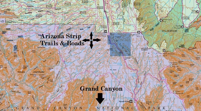 Arizona Strip ATV Camping Map