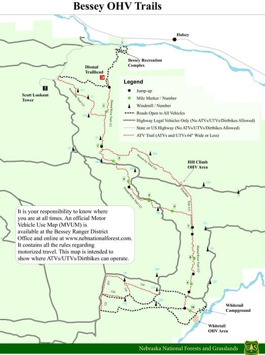 Bessey OHV Trails ATV Camping map