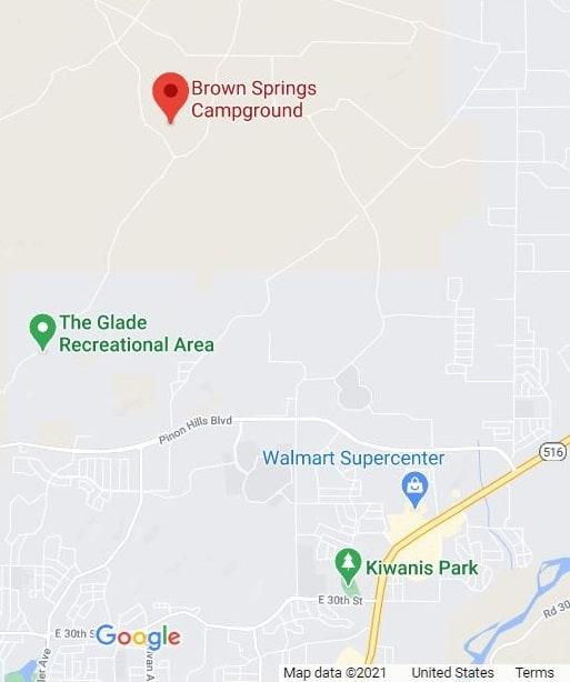 Brown Springs ATV Camping map