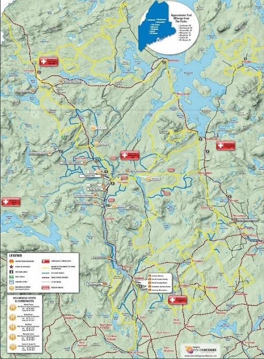 Maine ATV Campground ATV trail map