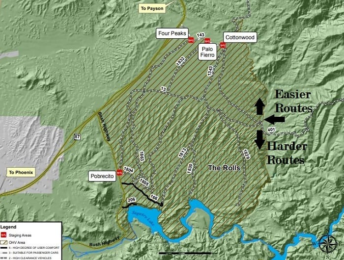 The Rolls OHV Area map