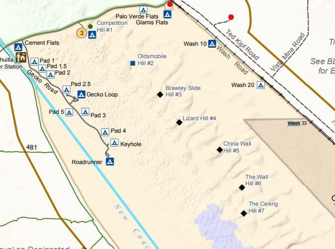 Glamis dunes advanced black diamond dune locations