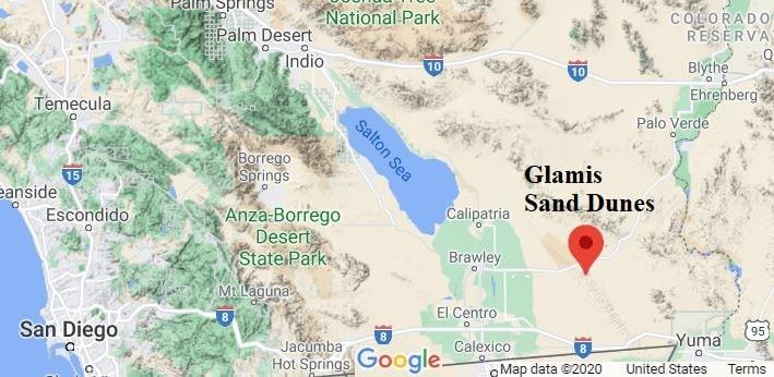 Glamis Sand Dunes location