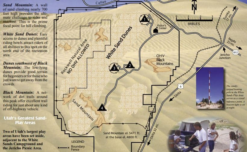 ATV Sand Dunes Little Sahara map