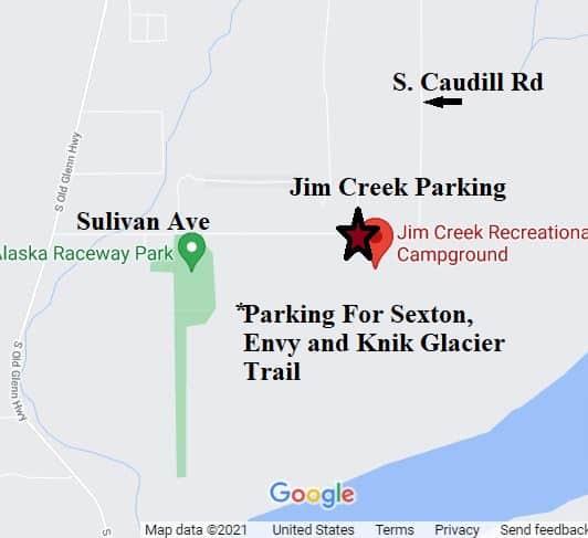 Knik Glacier ATV Trail Head parking