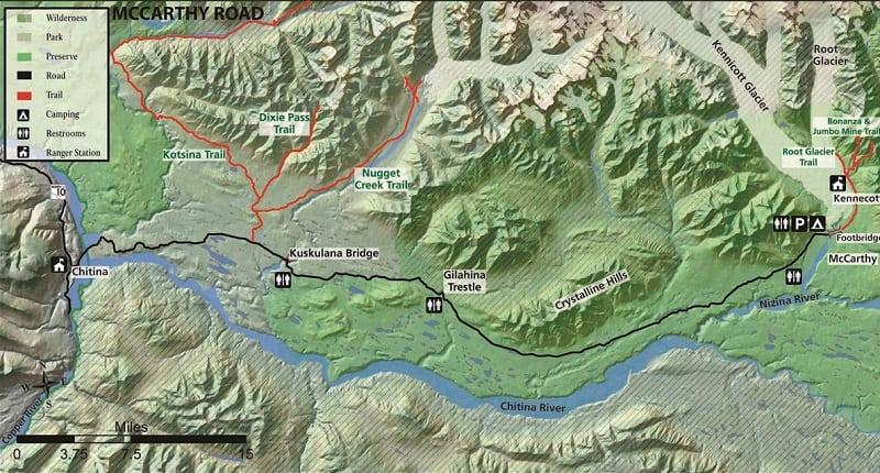 McCarthy Road Alaska ATV Trails