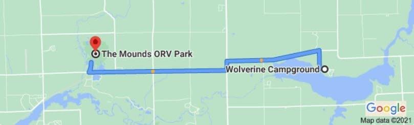 Wolverine Campground location