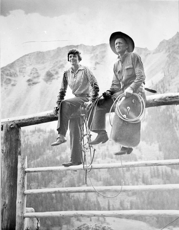 Amelia Earhart in Wyoming at Double D Ranch
