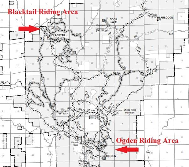 Ogden and Blacktail ATV Trails In Wyoming