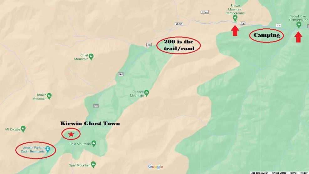 Kirwin Ghost Town ATV Trails In Wyoming