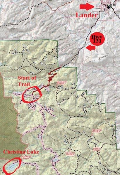 Christina Lake ATV Trails In Wyoming