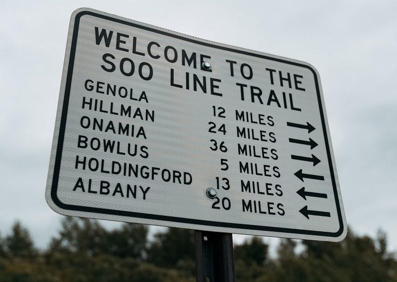 ATV Trails In Minnesota - Soo Line Trail Sign