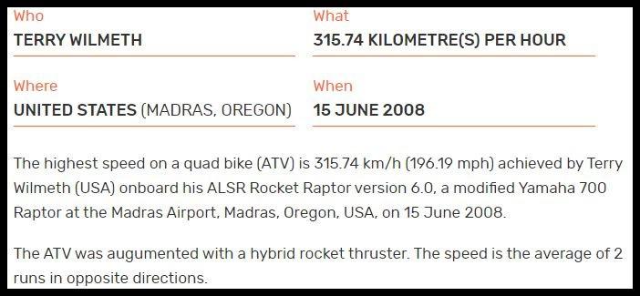 Fastest ATV ever
